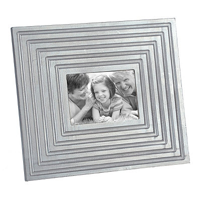 Metallic Silver Beveled Picture Frame, 5x7