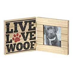 Live Love Woof Picture Frame