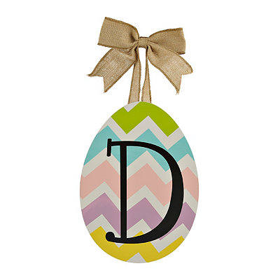 Chevron Monogram D Easter Egg Plaque