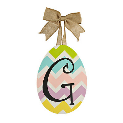 Chevron Monogram G Easter Egg Plaque