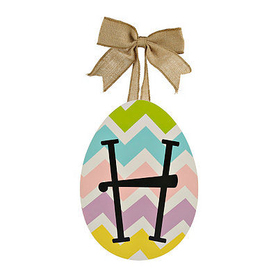 Chevron Monogram H Easter Egg Plaque