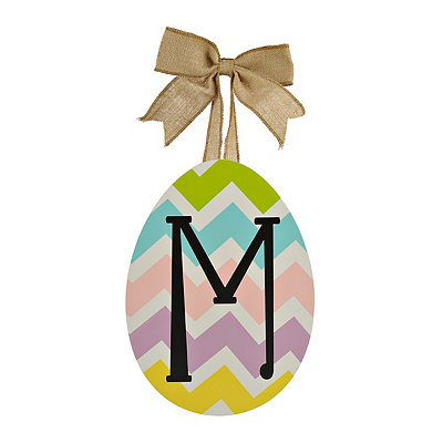 Chevron Monogram M Easter Egg Plaque