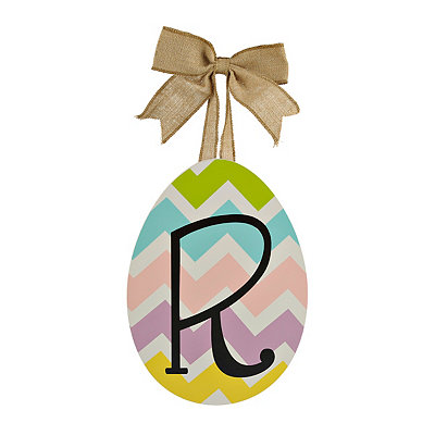 Chevron Monogram R Easter Egg Plaque