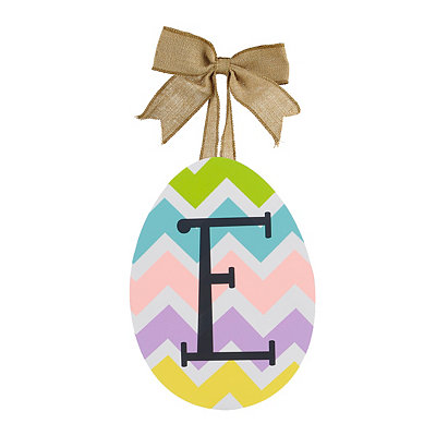 Chevron Monogram E Easter Egg Plaque