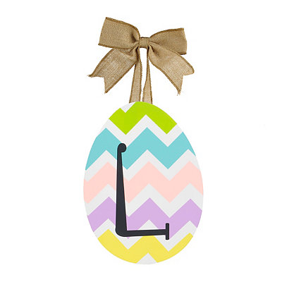 Chevron Monogram L Easter Egg Plaque