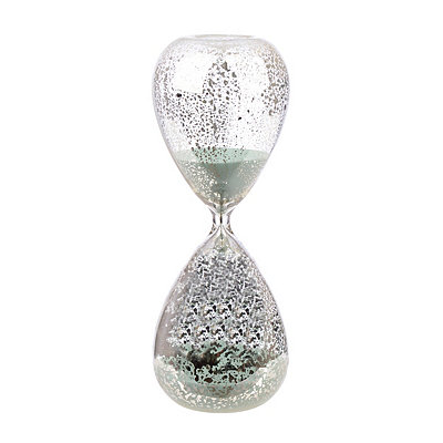 Turquoise Sand Mercury Glass Hourglass