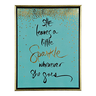 A Little Sparkle Framed Canvas Plaque