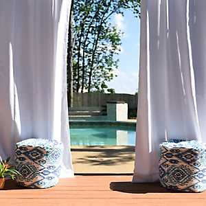 Solid White Outdoor Curtain Panel, 84 in.