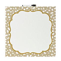 Gold Cheetah Print Dry Erase Canvas
