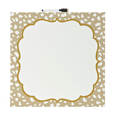 Gold Cheetah Print Dry Erase Canvas