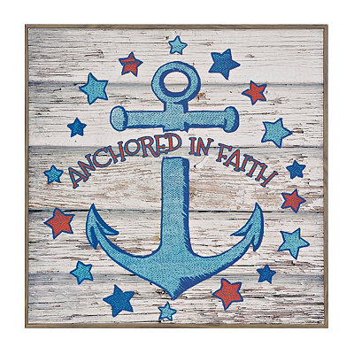 Anchored in Faith Framed Art Print