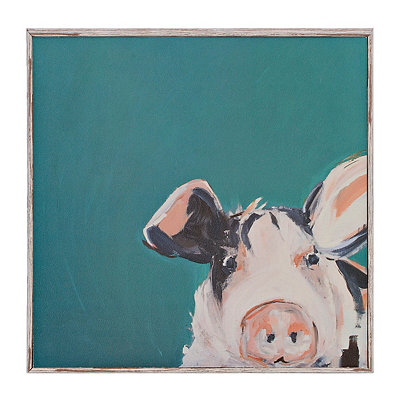 Farmhouse Pig Framed Art Print