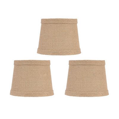 Natural Burlap Chandelier Shades, Set of 3