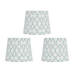 Mint Geometric Chandelier Shades, Set of 3
