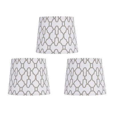 Gray Geometric Chandelier Shades, Set of 3