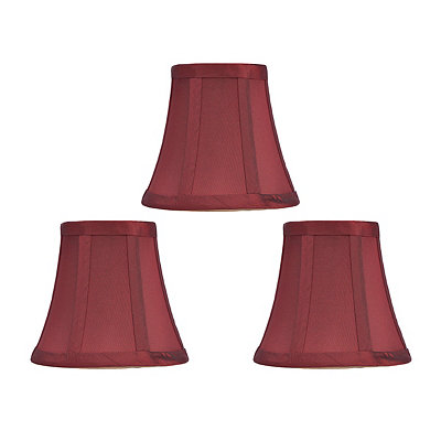 Merlot Silk Chandelier Shades, Set of 3