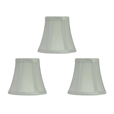Seafoam Silk Chandelier Shades, Set of 3