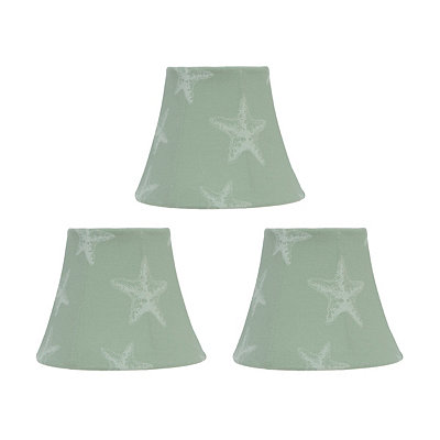 Blue Coastal Chandelier Shades, Set of 3
