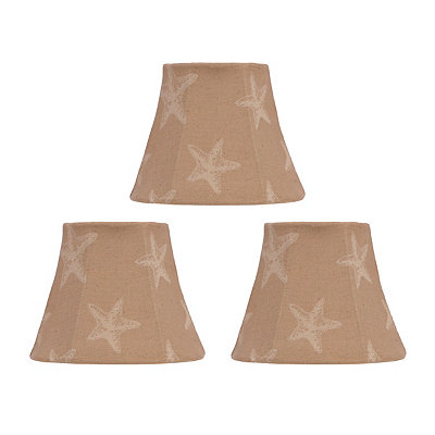 Tan Coastal Chandelier Shades, Set of 3