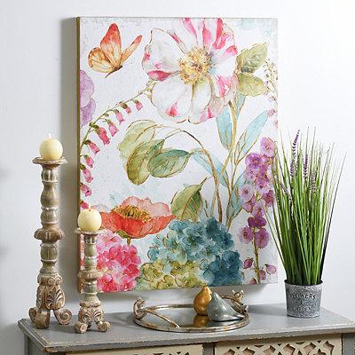 Rainbow Garden Canvas Art Print