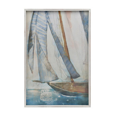 Watercolor Sailboat Framed Art Print