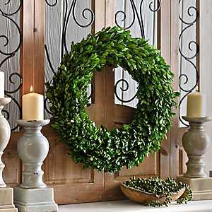 Preserved Round Boxwood Wreath