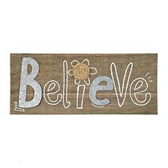 Galvanized Believe Wooden Plaque