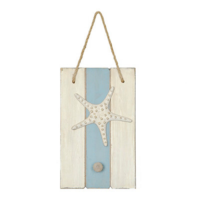 Starfish Wooden Knob Hook