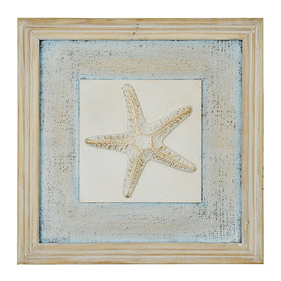 Distressed Starfish Wooden Plaque
