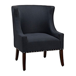 Maggie Navy Nailhead Accent Chair