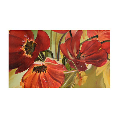 Crimson Garden Canvas Art Print