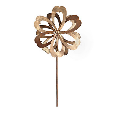 Bronze Metal Flower Spinner