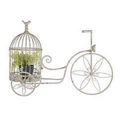 Cream Bicycle Birdcage Planter