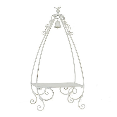 Bird and Bell Decorative Plant Stand