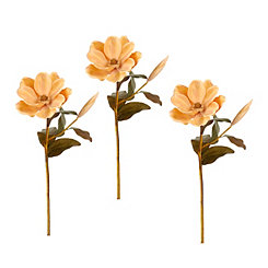 Cream Magnolia Stems, Set of 3