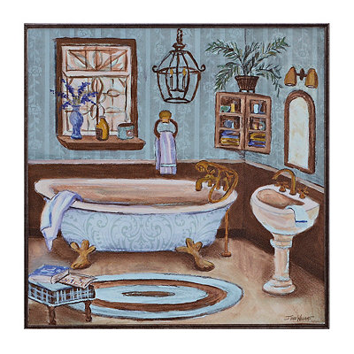 Blue Bathroom I Framed Art Print