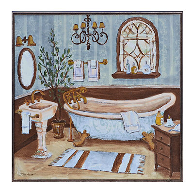 Blue Bathroom II Framed Art Print