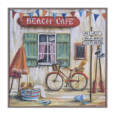 Beach Café Framed Art Print