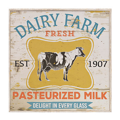 Dairy Farm Fresh Framed Art Print