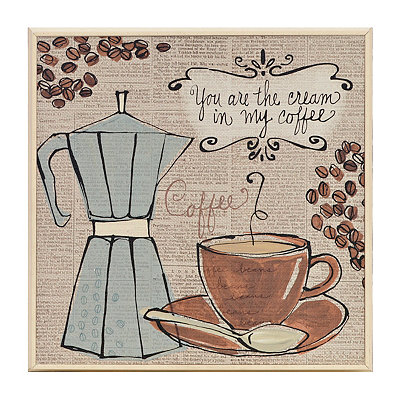 Fresh Roast Coffee I Framed Art Print