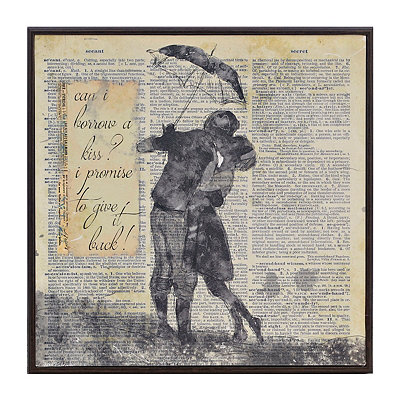 Newsprint Romance I Framed Art Print