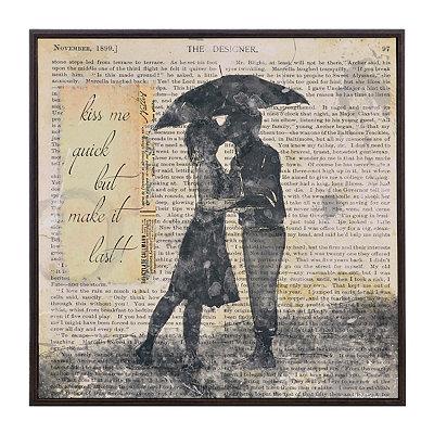 Newsprint Print Romance II Framed Art Print