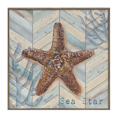 Chevron Seashell III Framed Art Print