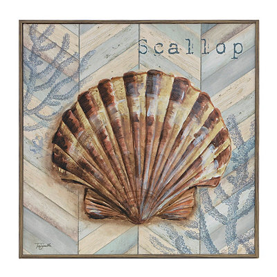 Chevron Seashell IV Framed Art Print