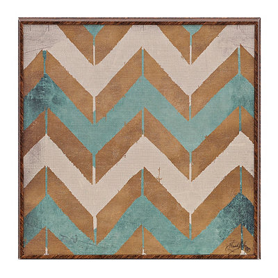 Teal Pattern I Framed Art Print