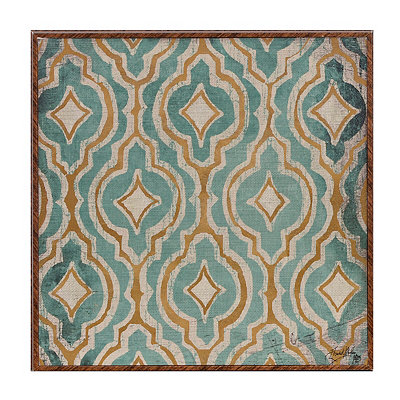 Teal Pattern II Framed Art Print