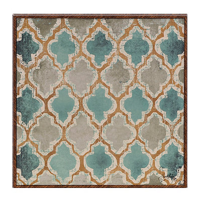 Teal Pattern III Framed Art Print