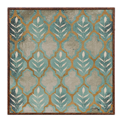 Teal Pattern IV Framed Art Print