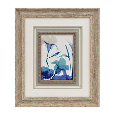 Blue Ombre X-Ray Floral I Framed Art Print