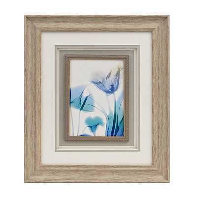 Blue Ombre X-Ray Floral II Framed Art Print
